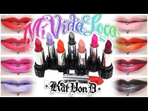 Review Swatches Kat Von D Mi Vida Loca Remix Studded Kiss Lip Set