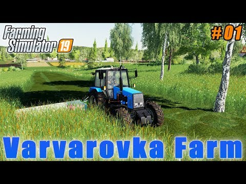 Harvesting grass for silage | Farming in Varvarovka | Farming simulator 19 | Timelapse #01 thumbnail