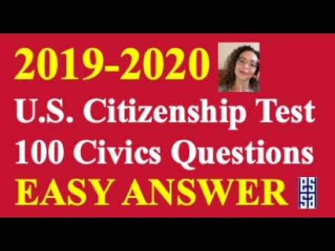 2020 Easy Answer Citizenship Questions Practice!