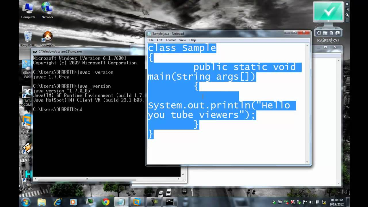 How to run java programs using command prompt