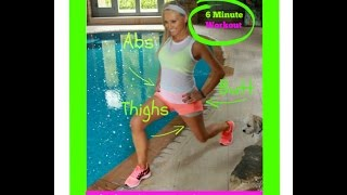 6 Minute Fat Burning Workout - Cardio and Toning For Your  Butt, Thighs and Abs