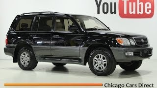 Chicago Cars Direct Presents a 2002 Lexus LX470 4WD. Black Onyx/Ivory. x13654