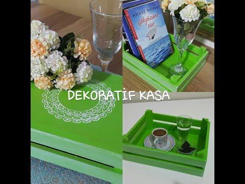 Çok amaçlı dekoratif kasa boyama - meyve sebze kasası