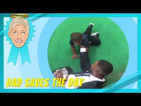Ellen Celebrates Dads Saving the Day