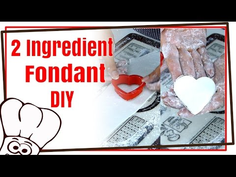 Homemade Marshmallow Fondant - 2 Ingredients - How to Use Baking Buddy Silicone Mat: