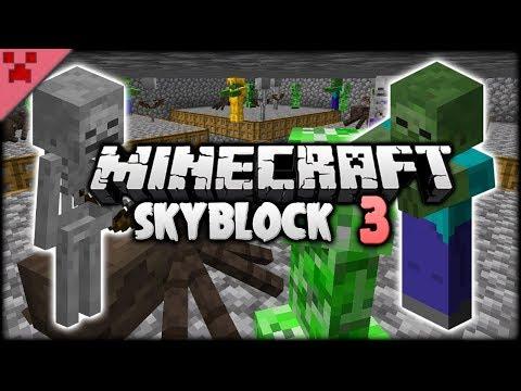 Efficient Cobble & EPIC MOB FARM! | SkyBlock (Minecraft Survival Let's Play) | Episode 3