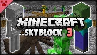 Efficient Cobble & EPIC MOB FARM!   SkyBlock (Minecraft Survival Let's Play)   Episode 3