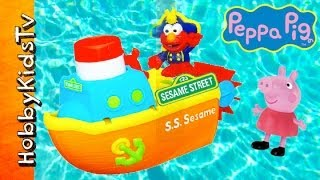 Peppa Pig Sails with Elmo S.S. Sesame Boat! Playskool [Toy Review] [Sesame Street] [Hasbro]