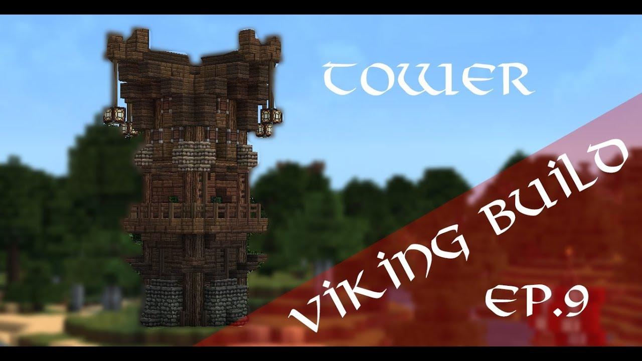 Minecraft Viking Tower TUTORIAL Viking Village Ep YouTube - Minecraft wikinger hauser