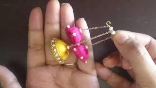 DIY pearl earrings| diy silk thread earrings| jewellery making| silk thread jhumka earrings