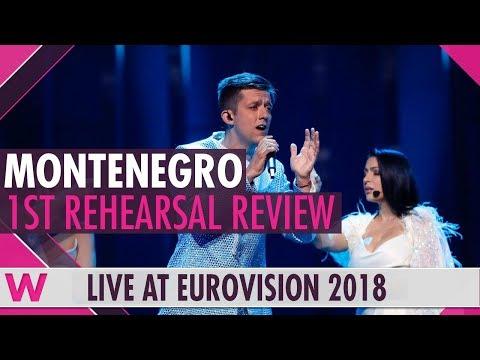 """Montenegro First Rehearsal: Vanja Radovanović  """"Inje"""" @ Eurovision 2018 (Review)   wiwibloggs"""