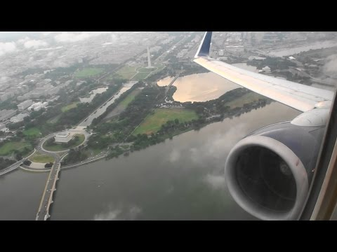 Incredible First Class HD 737 Takeoff From Reagan National Airport in Washington DC!!!