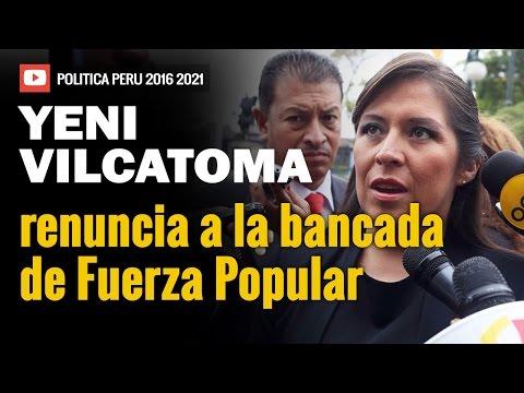 Yeni Vilcatoma renuncia a la bancada de Fuerza Popular | 16-09-16