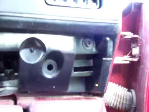 Screw Locations On The 97 Buick Dash