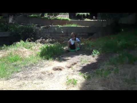 McKelvey Backyard Summer Sledding
