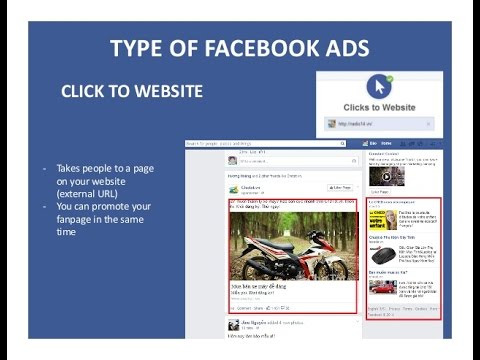 How to create quality clicks to website with facebook ads Video websites