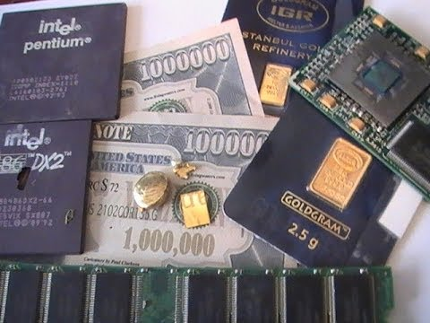 Getting rich quick scrapping E-scrap for gold
