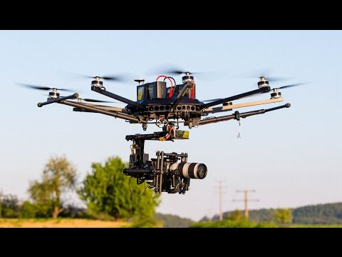 RAWcopter with Canon 70-200mm Zoom Lens Maidenflight // theblackdrone GmbH
