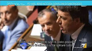 PD-M5S, l'audio di Matteo Renzi che accusa Paolo Gentiloni di sabotaggio