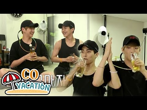CoVacation: Xiumin & Daniel They're Doing Yoga With Beer 20170910