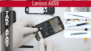 How to disassemble 📱 Lenovo A859, Take Apart, Tutorial