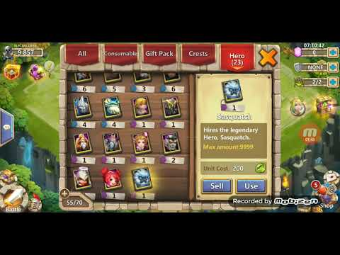 Rolling 10000 Gems For Hero Collector CASTLE CLASH