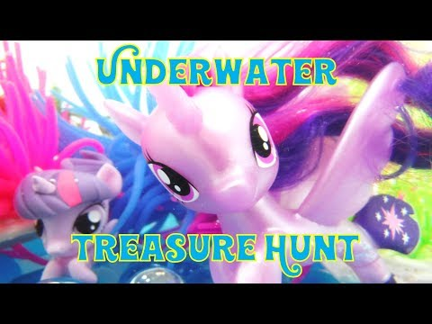 My Little Pony Swimming Seapony Underwater Play and Treasure Hunt for Fash'ems