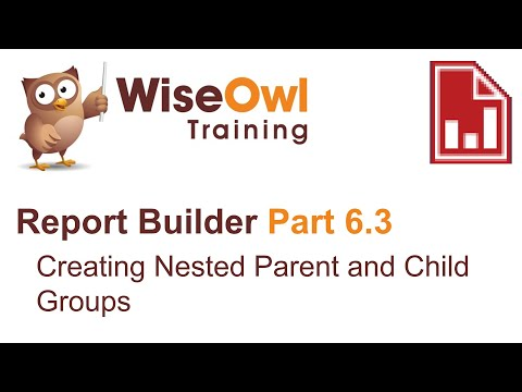 Report Builder 2016 Part 6.3 - Nested Parent And Child Groups In A Table