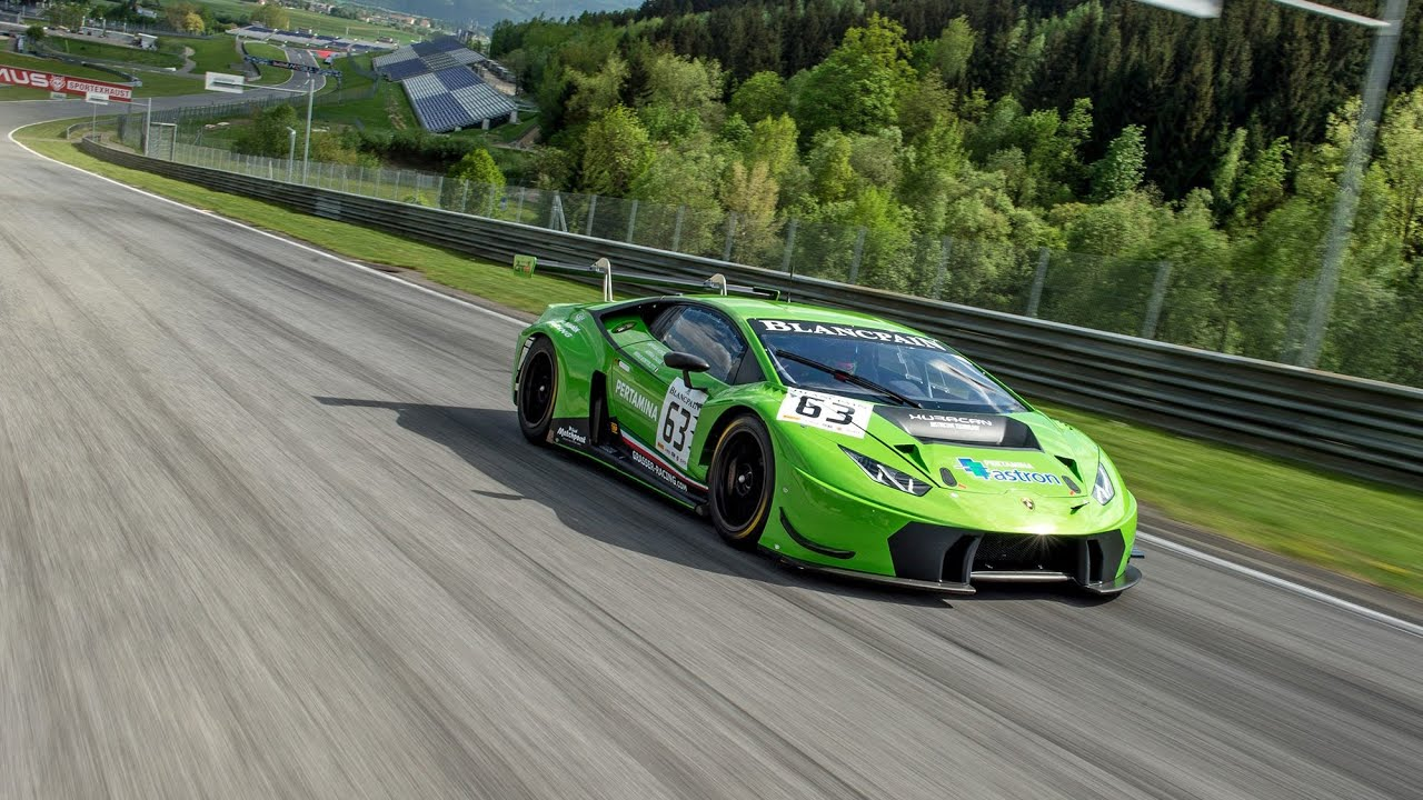 grt lamborghini huracan gt3 test am redbullring youtube. Black Bedroom Furniture Sets. Home Design Ideas