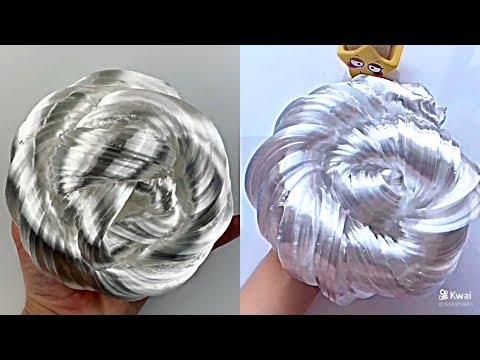Liquid glass putty - satisfying slime ASMR video compilation