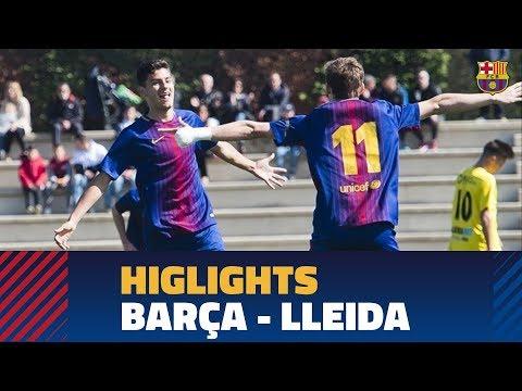 [HIGHLIGHTS] FUTBOL (Juvenil A): FC Barcelona – Lleida (3-0)