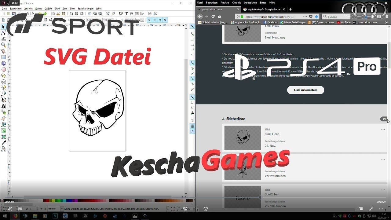 gran turismo sport svg aufkleber tutorial mit inkscape ps4. Black Bedroom Furniture Sets. Home Design Ideas