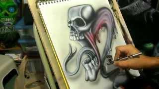 speed painting graff style airbrushing iwata eclipse hp cs