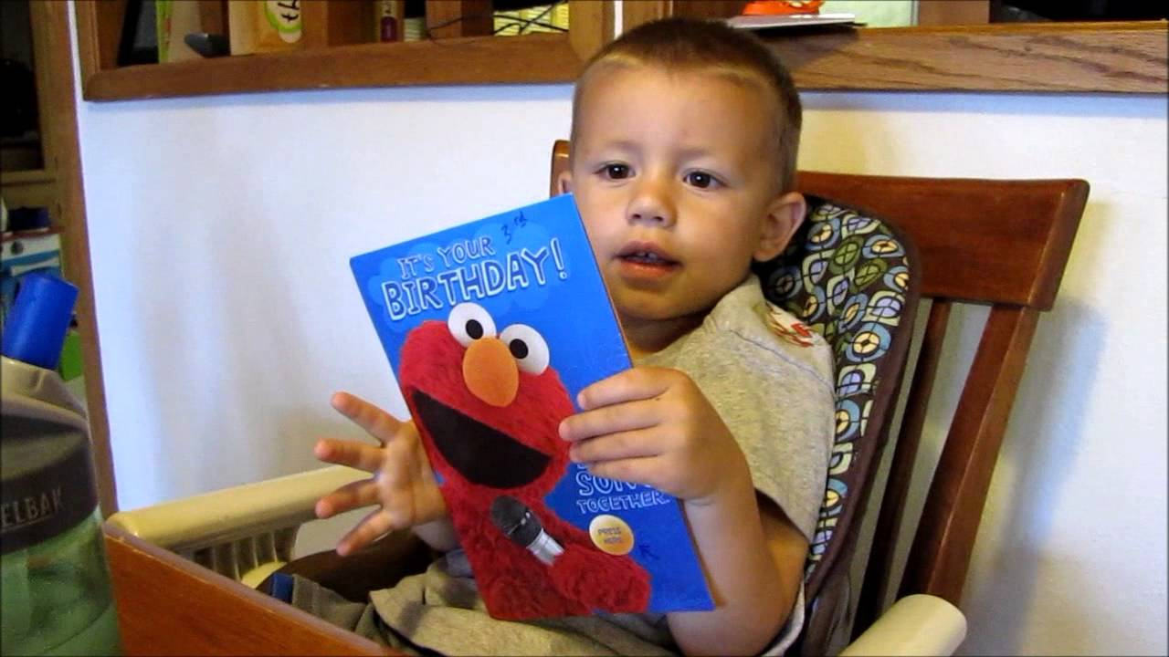 Elmo Birthday Card Youtube