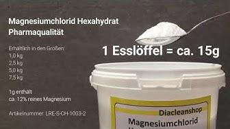 Magnesiumchlorid abwiegen: Wieviel Gramm Magnesiumchlorid sind 1 Esslöffel?