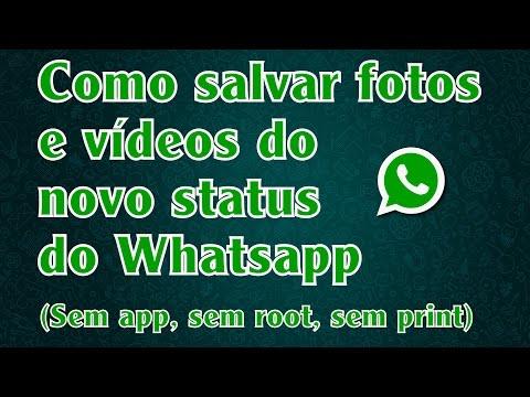 como salvar o status do whatsapp de outra pessoa
