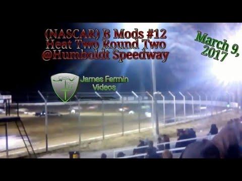 B Mods #12, Round 2 Heat 2, Thursday Night, Humboldt Speedway, 2017