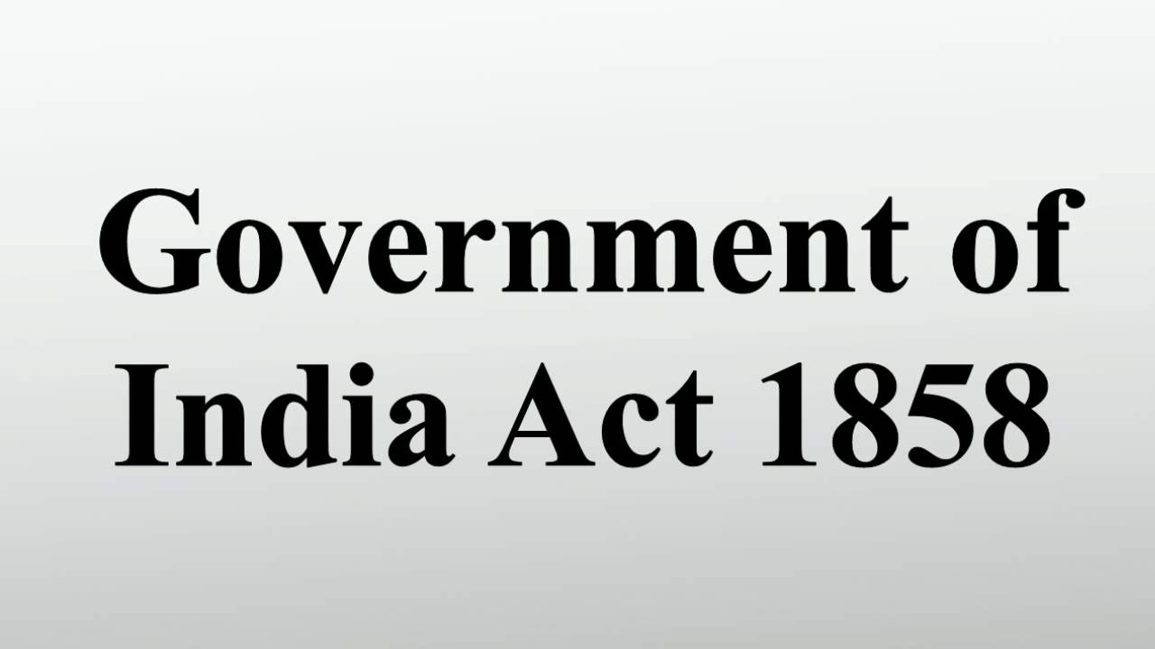 govt of india act 1858