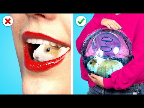 CRAZY WAYS TO SNEAK PETS INTO THE PLANE! Funny Situations & Best Sneaking DIY Ideas by Crafty Panda