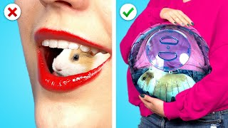 CRAZY WAYS TO SNEAK PETS INTO THE PLANE! Funny Situations &amp Best Sneaking DIY Ideas by Crafty Panda