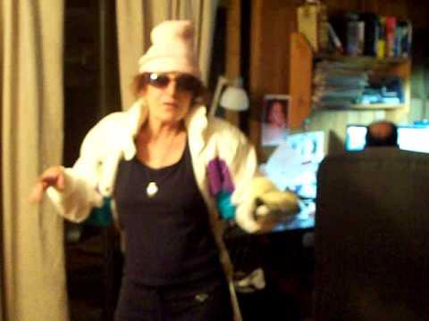 Crazy snowsuit lady