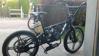mon proto BMX a moteur 103  (bike bmx with motor )