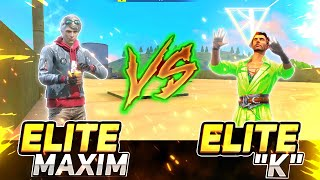 Elite Maxim Vs Elite K Healing Ability Test | #Shorts | Garena Free Fire
