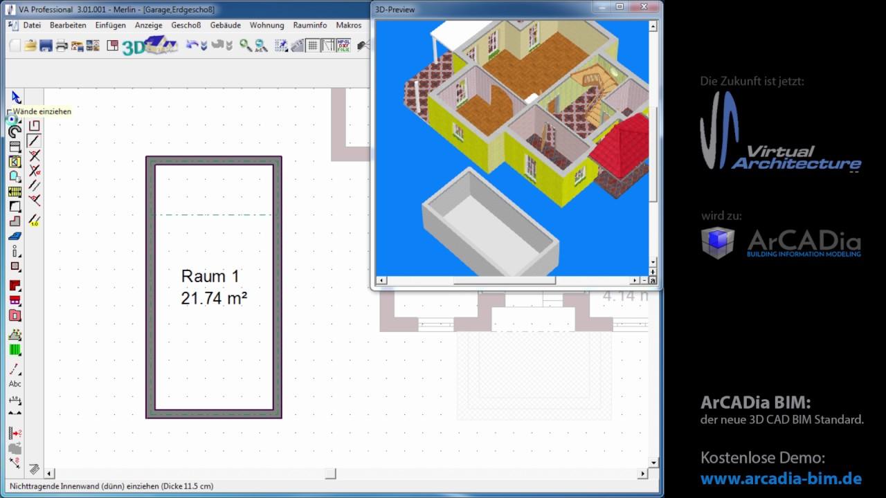 Konstrukionselemente tragende w nde im grundriss for Wohnung zeichnen 3d