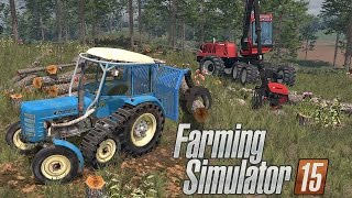 Zawód Drwal ㋡ Cięcie drzewa na Boluśowo v7 ☆ Farming Simulator 15 MP #1 ㋡ Bronczek & MafiaSolec