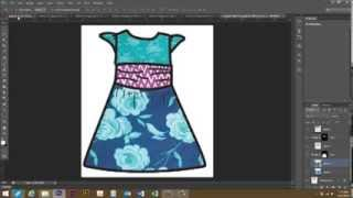 Use Photoshop To Put Patterns In A Line Drawing (clothing Design)