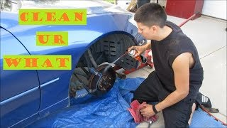 lexus is300 brake and rotor cleaning DiY