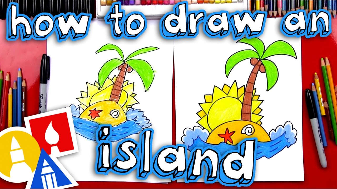 how to draw a island on youtube