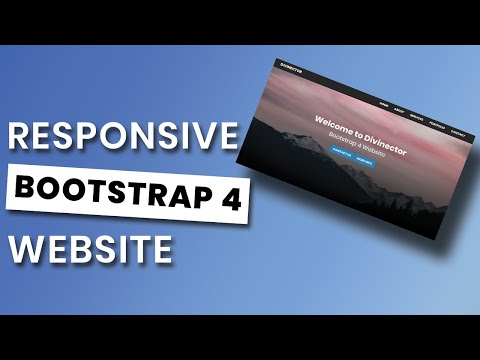 Responsive Bootstrap 4 Website Start to Finish | Bootstrap 4 Website from Scratch