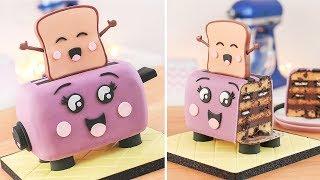 Cute Toaster & Happy Toast - Cake Decorating - Tan Dulce